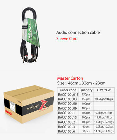 Kabel audio RACC100L6